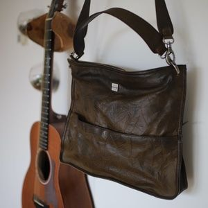 Matt & Nat Vegan Leather Shoulder Bag in Brown
